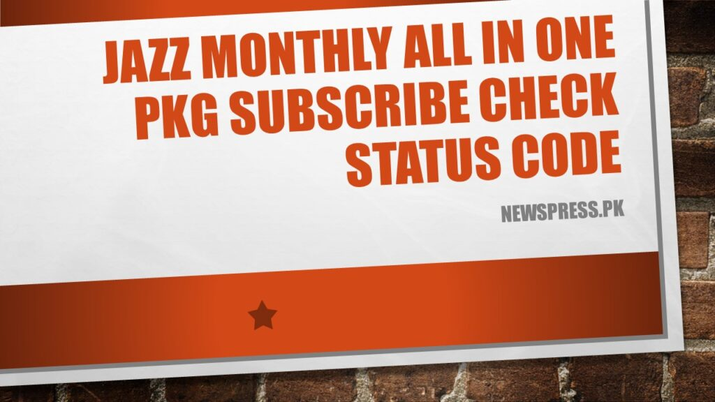 Jazz Monthly All in One Pkg Subscribe Check Status Code