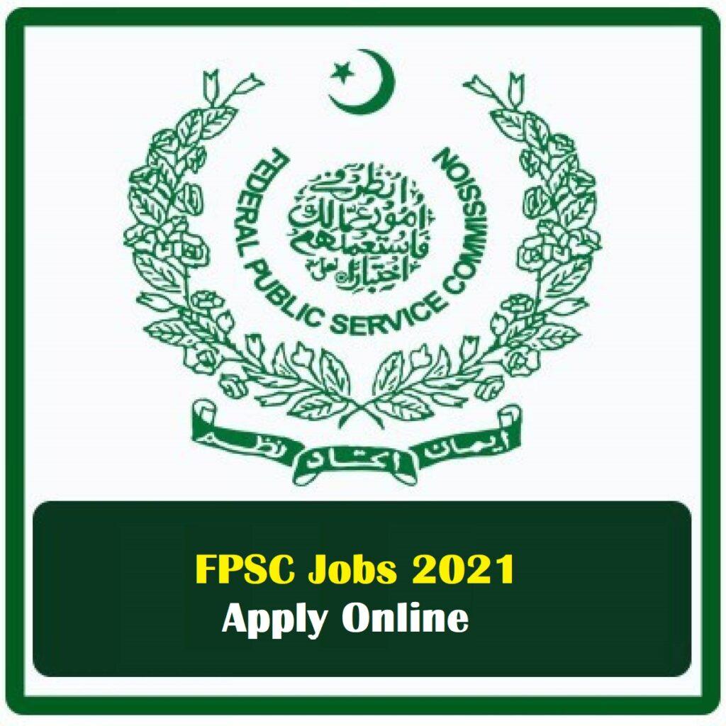 Latest Jobs in FPSC 2021 Apply Online