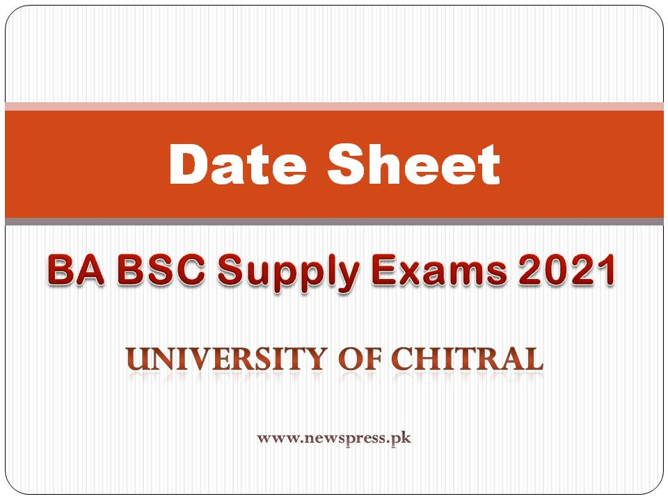Download or check online Chitral University Date Sheet for BA BSC Part 1 & 2 Supply Exams