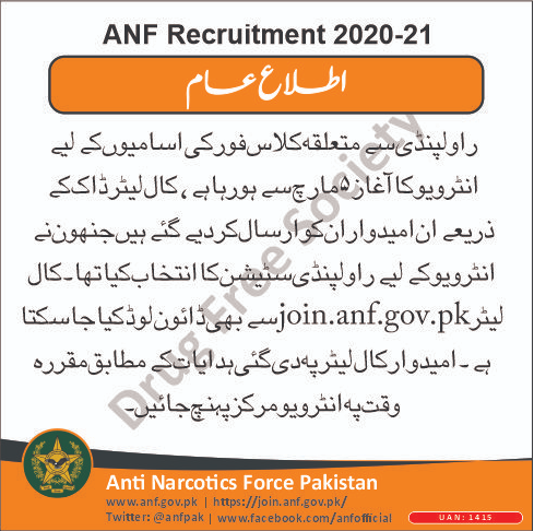 Check ANF Written Test Result 2021 BS 01 to BS 15