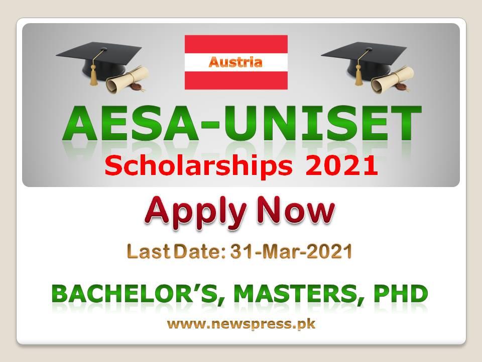 Apply for AESA-UNISET Scholarships 2021 in Austria