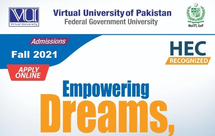 Virtual University VU Admission Schedule Fall 2021