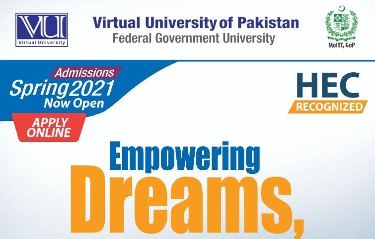 Virtual University VU Admissions Spring 2021 Guide