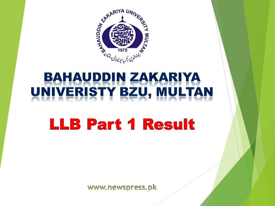 BZU Multan LLB Part 1 Result 2020-2021