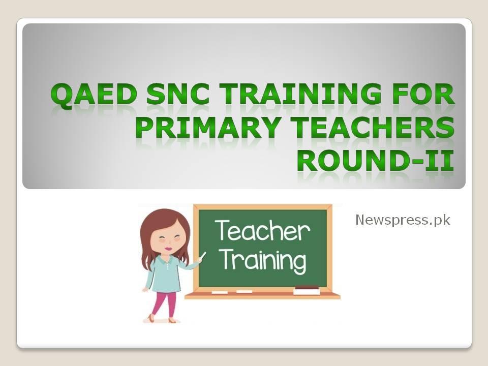 QAED SNC Training for Primary Teachers Round-II