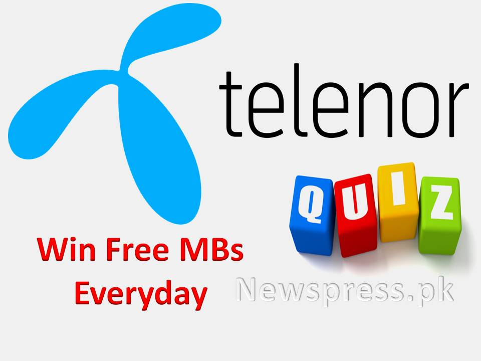 Telenor Quiz Answers to win free MBs daily