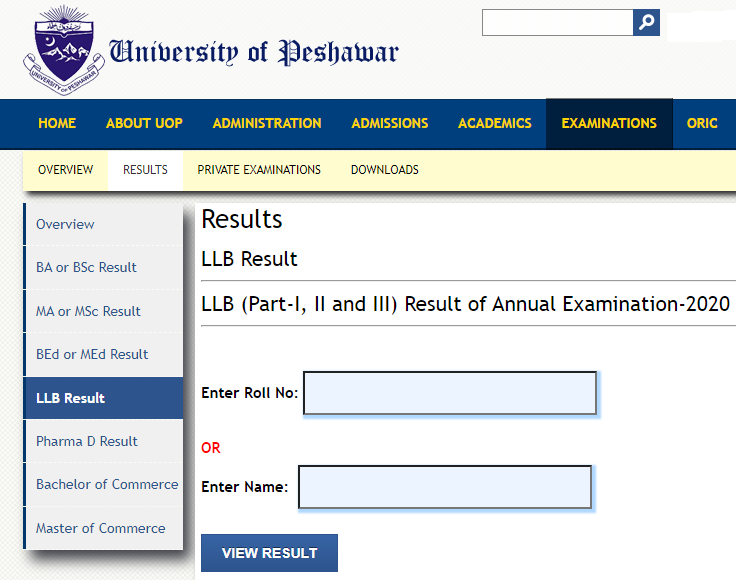 How to Check the UOP LLB Result 2021?